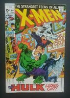 Uncanny X-Men #66, FN 6.0, Hulk; Final New Story Before Reprints