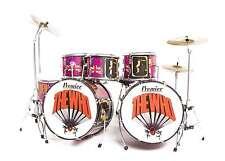 Axe Heaven Keith Moon Tribute Miniature Drum Set Replica - Km-Drum-1