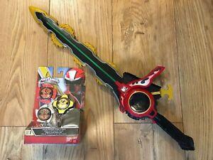 Power Rangers Ninja Steel Master Blade Chainsaw Sword w/ 3 Stars Pack