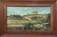 Max Herzog (1889-1962) Zurich Switzerland - Wide Landscape - 24 13/16X38 3/16in
