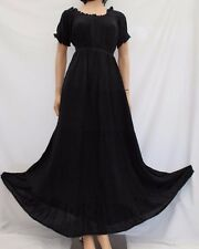 Boho Peasant Gypsy Maxi Victorian Tiered Empire Waist Dress 10 12 14 16 18 20