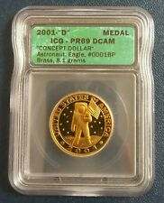 2001 D ICG PR69 Concept Apollo Roller by Daniel Carr Dollar proof (900 minted)