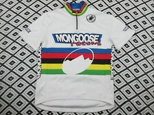 RARE VINTAGE CASTELLI  CYCLING JERSEY striped mongoose team short sleeve zip up