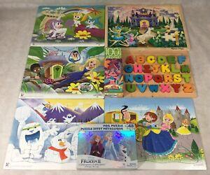 Kids Puzzles Mixed Lot of 8 Wood Alphabet 2018 PlayMonster Melissa & Doug Trolls