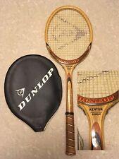 Racchetta DUNLOP KENTON vintage in legno + Fodero! Tennis