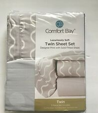 Twin Size Bed Sheet Set 3-piece Luxurious Polyester Hypoallergenic