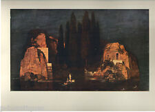 "1960 Art Print ""Island Of The Dead"" by Arnold Bocklin; Swiss Free Shipping"