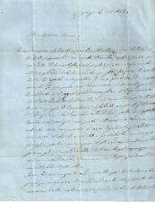 Cosenza Lettera Inviata a Torino a Napoleone Botta 1862