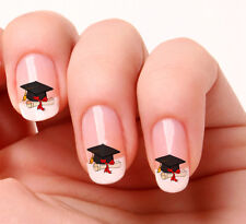 20 Nail Art Decals Transfers Stickers #647 -  graduation hat and scroll