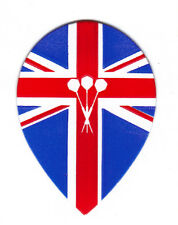 Dart Flights - 5 British Flag & Darts Teardrop Sets