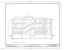 Frank Lloyd Wright Prairie Style home, architectural drawings, Charnley House