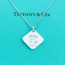 """TIFFANY&Co Silver Nike New Woman SF 07 Pendant Necklace 16"""" with Pouch!!"""