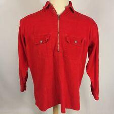 Vintage Marlboro Red Corduroy Cigarettes Pullover Western Work Shirt 90's Grunge