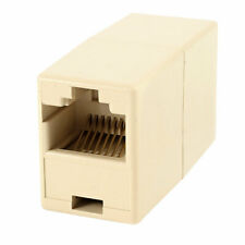 RJ45 8P8C CAT6 Female to Female Network Cable Adapter Connector Beige