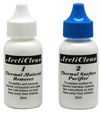 ArctiClean Thermal Material Remover + Surface Purifier 2x60ml Set Arctic Silver