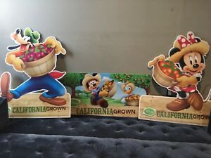 RARE ALBERTSONS STORE DISNEY DISPLAY MICKEY MOUSE DONALD GOOFY MINNIE 3 SIGNS