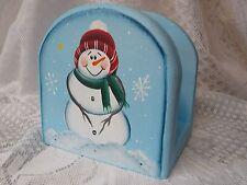 HP SNOWMAN NAPKIN HOLDER/CHRISTMAS NAPKIN HOLDER