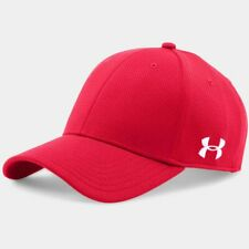 New Under Armour Men's Stretch Fit Baseball Cap Classic Curved Bill Red Hat M/L