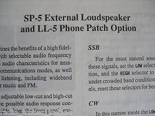 Yaesu Sp-5 (Genuino Manual de instrucciones sólo)............ radio_trader_ireland.