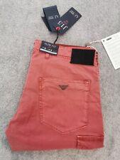 💯 Gen Armani Bordeaux slim comfort fit low waist combat cotton Jean W34 L32