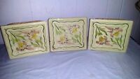 Set of 3 Antique Art Nouveau Tiles by Sachslschochamatte Germany Art Nouveau