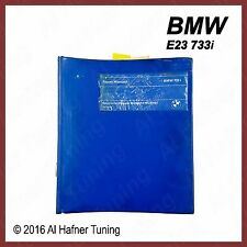 BMW E23 733i Vintage Repair Manual 01 51 9 599 727