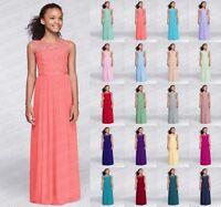 Princess Vogue Junior Lace Flower Girl Wedding Bridesmaid dresses 2-16 years
