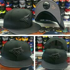 Exclusive New Era MLB Toronto Blue Jays 9Fifty snapback Hat Black Leather