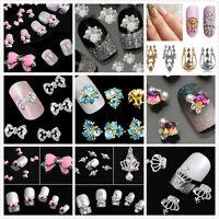 Charm 10pc 3D Hollow Nail Art Alloy Tips Decoration Jewelry Glitter Rhinestone #