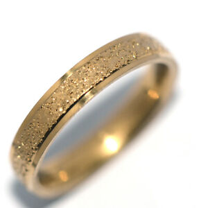 Frosted Womens Mens Rings Band Ring Gold Ring Fashion Jewelry Ring Size 8
