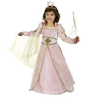 Child Girl's Princess Aurora Sleeping Beauty Halloween Costume Pink Dress XS S M