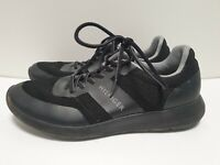 R956 MENS TOMMY HILFIGER BLACK CANVAS LACE UP RUNNING TRAINERS UK 7 EU 41 US 8
