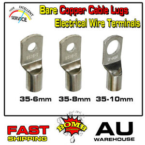 Copper Cable Lugs SC35-6 35-8 35-10 Terminals Household Quick Installation 35MM²