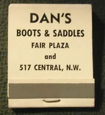 Matchbook - Dan's Boots and Saddles Western Clothes Albuquerque NM FULL