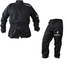 Richa Rain Warrior Motorcycle Motorbike Jacket and Trousers Black Kit Waterproof