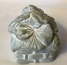 1996 Isabel Bloom Sculpture Symphony in Bloom Paperweight Pansy Basket