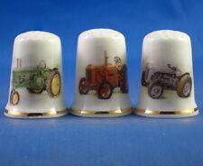 Birchcroft Thimbles -- Set of Three -- Vintage Tractors