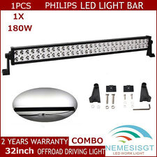 Philips 32inch 180W LED Work Light Bar Spot Flood Offroad Lamp Boat SUV 4X4 JEEP