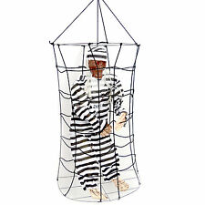 HANGING SKELETON IN CAGE | Halloween Scary Party Decoration Scary Toy Prop