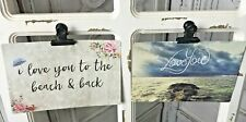"""New Listing2 Love Beach Paper Postcards Pack 4x6"""" Self Mailer, Mail or Craft Junk Journal"""