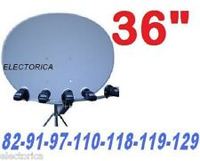 "36"" ELLIPTICAL SUPER SATELLITE DISH 82-91-97-110-118-119-129 HD 1000 FTA LNB"