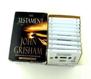 The Testament John Grisham Unabridged 9 pc Audiobook Audio Book Cassette Tapes