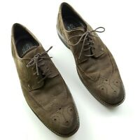 ECCO oxford shoes wingtip brown leather lace up Men's 44 (10-10.5 US)