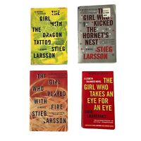 The Girl with the Dragon Tattoo Trilogy Stieg Larsson + Eye: 4 lot book Paperbck