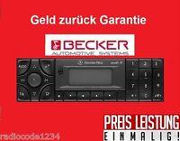 Radio Code Becker Audio 5/10/30 APS schnelle Hilfe / Mo - So