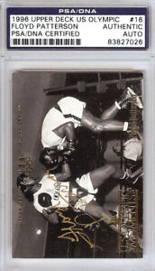 Floyd Patterson Autographed 1996 Upper Deck US Olympic Card #16 PSA/DNA 83827026