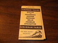 JUNE 1966 NEW HAVEN RAILROAD STOUGHTON SUBURBAN TIMETABLE FORM 210