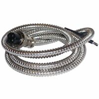"""WORKMAN - 50"""" CHROME SNAKE STYLE METAL MICROPHONE REPLACEMENT CORD - 4 PIN"""