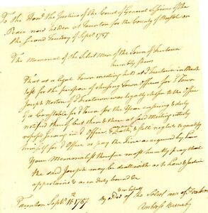 1787 Early Am-Doc>JOSEPH NORTON UTTERLY REFUSED SERVING IN OFFICE CONSTABLE