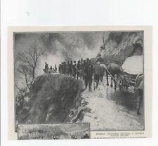 1915 WWI Photo print CROSSING A RIVER NEAR DOIRAN ON THE GRECO-SERBIAN BORDER
